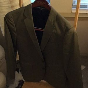 J. Crew olive blazer and suit